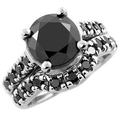 4.50+Carat+Round+Fancy+Black+Diamond+Matching+by+JewelryPoint,+$2100.00
