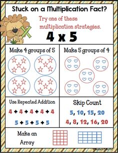 Free Multiplication Strategy Poster