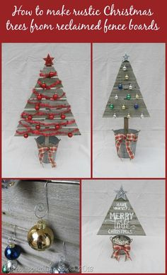 How to make rustic wooden Christmas trees from reclaimed fence boards