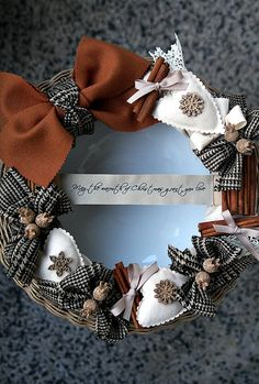 Christmas Wreath by made by agah, via Flickr