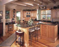 Image detail for -interior log cabin kitchen designs