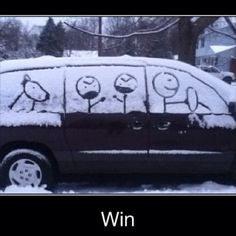 laugh, winter, stick figures, epic win, funni, sticks, humor, families, snow art