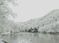 A delicate covering of snow turns the Mountain Fork River at Beavers Bend State Park into a purely magical winter scene.