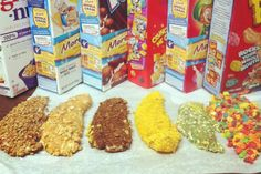 Eating cereal dinner is a little less pathetic when you bread chicken with Cap'n Crunch.