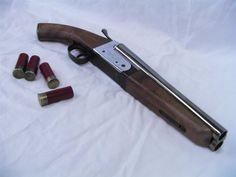 Double barrel shotgun pistol