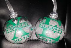 Personalized ornaments - $8.00 each