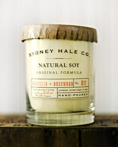 Magnolia and Sage Soy Candle, $26