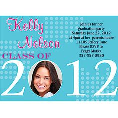 This is a cute graduation invitation idea. parti idea