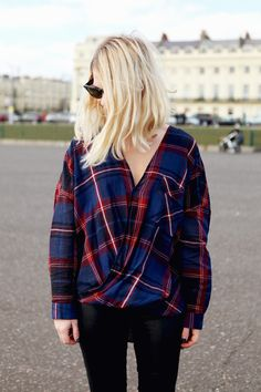 hair colors, diy fashion, clothing alterations, blous, street styles, blond, plaid shirts, leather pants, dream hair