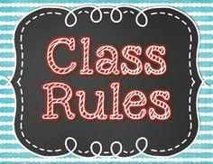 Chalkboard Whole Brain Teaching Class Rules - FREEBIE!