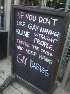 Gay marriage...