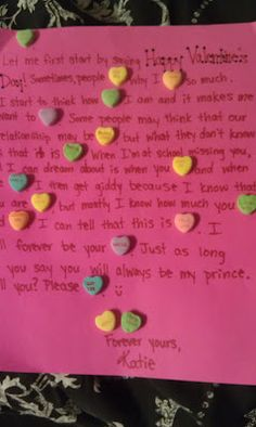 love letter using candy hearts