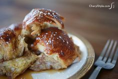 overnight challah French toast casserole  |  CherylStyle.com