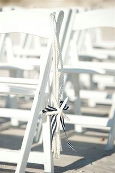 Nautical Wedding Ideas-Beautiful and unique aisle decorations! Sigh..