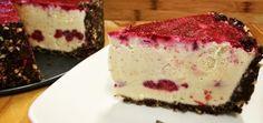 Raw White Chocolate Raspberry Torte (Super Easy To Make!)