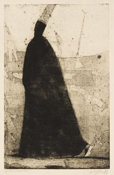 Rimvydas Kepežinskas(Lithuania, b.1956)    Going  1998    aquatint, mezzotint