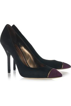 Yves Saint Laurent, Opyum suede pumps, $665