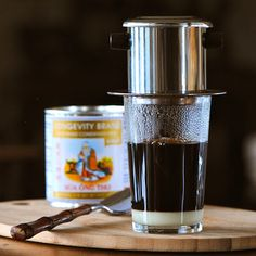 Vietnamese Coffee by julesfood: Strong and bold with a sweet creamy milk finish. #Coffee #Vietnamese