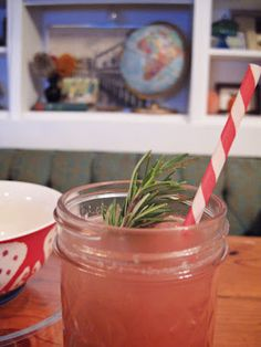 Boozy Watermelon Rosemary Lemonade Recipe — Dishmaps