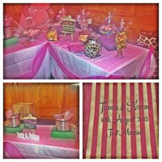 Wedding candy bar and chocolate fountains