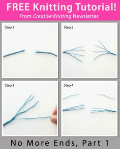Free Knitting Tutorial from Creative Knitting newsletter: No More Ends, Part 1 by Tabetha Hedrick. Click on the photo to access the tutorial. Sign up for this free newsletter here: AnniesNewsletters.com.