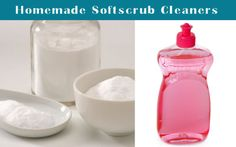 Homemade soft scrub cleanser...also one w/ lavender
