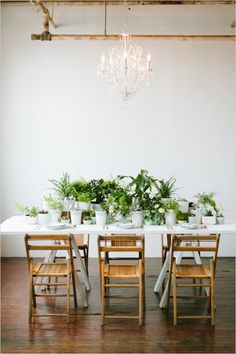 dinner party setup