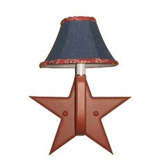 Red Star Sconce