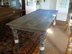 post leg, dine room, dine tabl, farms, farm tables, porch post, antiqu porch, dining tables, antiques