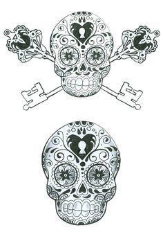 Tattoo idea....? I have a weird obsession with sugar skulls and the cross skeleton keys are such a good idea. Couples Tattoo, Tattoo Ideas, Locks, Sugar Kull, Mexicans Skull, A Tattoo, Skeletons Keys, Sugar Skull Tattoos, Ink