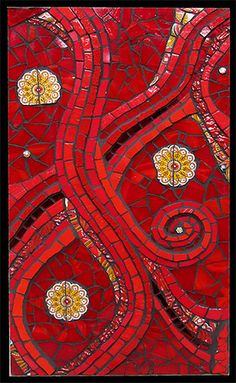 Dawn Mendelson, Red 9 – Contemporary Mosaic Art
