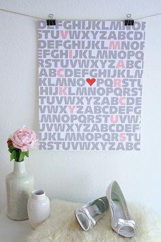 DIY Love You Poster