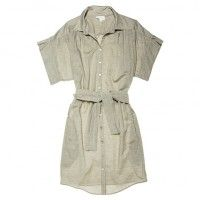 Refinery29 Shops: Calla Haynes Closet Gray Vanessa Bruno button-up shirt dress with tie waist, size 36 - Calla Haynes Closet - Boutiques