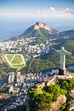 Christ the Redeemer overlooks Rio de Janeiro. #brazil