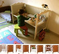 diy repurposed furniture   Crib repurpose   DIY / Repurposed Furniture Work Area, Kids Stuff, Baby Beds,  Cot, Repurposed Furniture, Crafts Tables, Kitchens Carts, Bedrooms Deco, Baby Cribs
