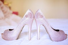 A little extra lovin' - Betsey Johnson heels! #wedding #shoes