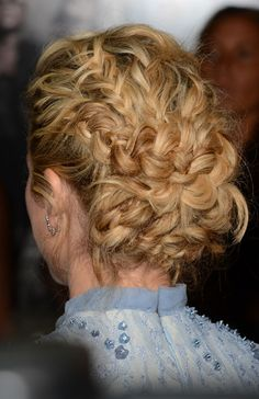 Brittany Snow braided hairstyle 2012