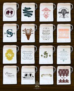 Custom Printed Muslin Bags