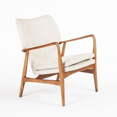 Beige Twill & Ash Arm Chair | dotandbo.com