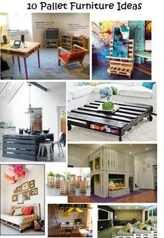 10 Pallet Furniture Ideas. For a DIY Pallet Planter Tutorial visit http://themicrogardener.com/diy-pallet-planter/ | The Micro Gardener