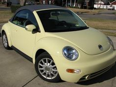 pale yellow convertible bug... one day I'll be rockin this baby