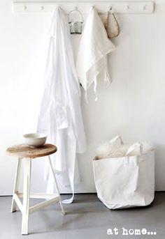 bathroom design, detail, white space, towel rack, white stool, house doctor, coat hooks, doctors, decor idea