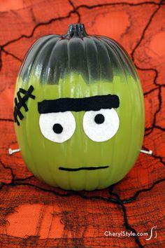 No carve DIY monster pumpkin...