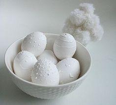 white easter eggs