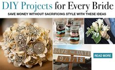 DIY wedding projects...I need to learn how to make that brooch bouquet!