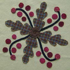 galleries, appliqu block, pattern, wool applique, floral appliqu