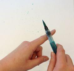 Un salpicar Tutorial IMPRESIONANTE usando el Aqua Pintor !!! ♥ | Stampin 'Up!