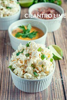 Spicy Cilantro Lime Popcorn by A Simple Pantry #SkinnygirlSnacks #shop #cbias