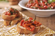 Roasted Red Pepper Bruschetta - your homebased mom