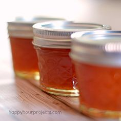 Pectin Free Peach Jam with 3 Ingredients at small batches perfect for gifts www.happyhourprojects.com